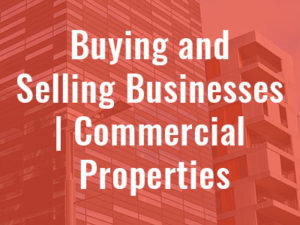 Buying and selling businesses / Commercial Properties | Swayne McDonald