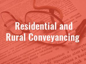 Residental and rural conveyancing - Swayne McDonald